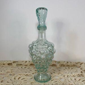 Vintage Italian Aqua Glass Bottle Modder Grape